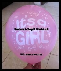 Barang Baru Balon Latex Sablon It'S A Boy   It'S A Girl   Baby Shower