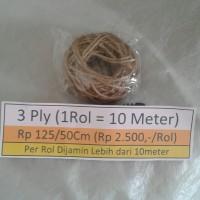 Rp125/50cm Tali Goni, Tali Rami, jute, Tali Vintage, Craft, Aksesoris