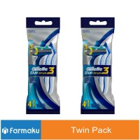 Twin Pack Gillette Blue Simple 3 4'S