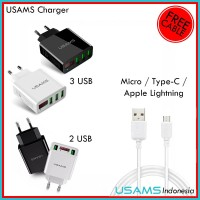 [PROMO] Beli 1 Gratis Kabel - Charger USAMS LED Display Fast Charging