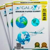 Kertas Photo Sticker A4 Paper Glossy Galaxy Stiker