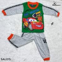 Setelan Baju Celana Anak Laki Superhero Murah 2 3 4 Tahun SAL015