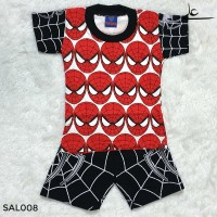 Setelan Baju Celana Anak Laki Superhero Murah 1 2 Tahun SAL008