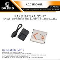 PAKET BATERAI SONY NP-BN1 + CHARGER BC-CSN - BATTERY + CHARGER KAMERA