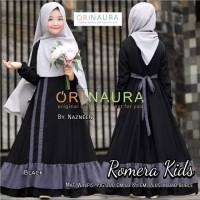 Baju Gamis Anak Terbaru Romera Kids Syari Original Naura Plus Jilbab