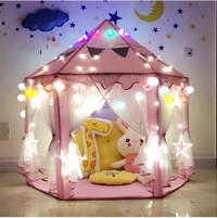 Free Lampu Tumblr Tenda Princess 140X140X135cm Mainan Mandi Bola
