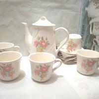 (12 Pcs) Cangkir Keramik Set - Coffee set / Tea Set Napoleon - Motif