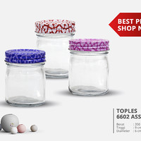 Toples Kaca Mini / Toples Import / Toples Unik / Jar Kaca Heart