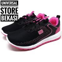 Sepatu Ando Tiffani Hitam Pink Tali Sekolah Anak Perempuan Olahraga