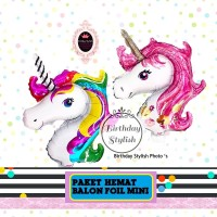 Paket Hemat Balon Foil My Little Pony/ Pegasus/ Unicorn Karakter Mini