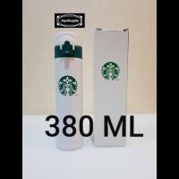 Botol Minum Termos Tumbler Kancing STARBUCKS Air Panas ORIGINAL PUTIH