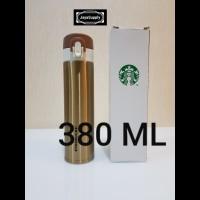 Botol Minum Termos Tumbler Kancing STARBUCKS Air Panas ORIGINAL - GOLD
