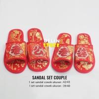 Sandal Couple Wedding Pengantin Cowok dan Cewek
