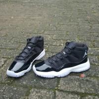 Sepatu Basket Nike Air Jordan 11 Premium Quality Black