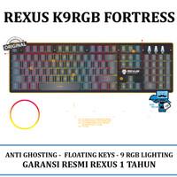 Keyboard Gaming Rexus K9RGB Fortress Backlit Floating Keys REX K9 RGB
