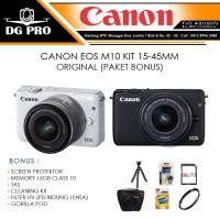 CANON EOS M10 KIT 15-45MM ORIGINAL (PAKET BONUS) - KAMERA CANON M10