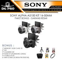 SONY ALPHA A5100 KIT 16-50MM PAKET BONUS - GARANSI RESMI