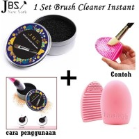 JBS Makeup Brush Egg Color Cleaner Pembersih Kuas (K083 + Brush egg)
