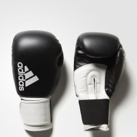 Sarung Tinju Muaythai Muay Thai Adidas Hybrid 100 Black White