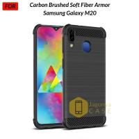 Samsung Galaxy M20 Case Carbon Brushed Soft Fiber Armor