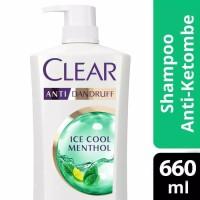 Shampoo Clear Ice Cool Mentol Anti Ketombe 680 ml