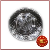 Baki / Nampan / Tray / Penyaji Makanan Bundar Stainless Steel (40 Cm)
