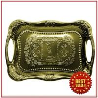 Baki / Nampan / Tray / Penyaji Makanan Arab Stainless Gold / Emas