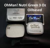 Pomade Oh Man Nutri Green 85 Gram Heavy Wax Based Oilbased FREE SISIR