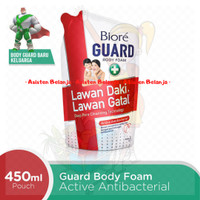 BIORE Guard Body Foam 450 ml Active Antibacterial Sabun Mandi Cair Ref