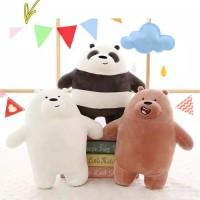 Boneka Bare Bears Grizzly Panda Polar Ice Bear Boneka Beruang Import -