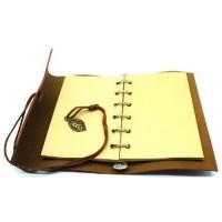 Terbaru Buku Catatan Binder Kulit Retro Leaf Kertas A6