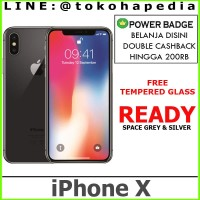 GARANSI RESMI - iPhone X 64GB / 64 GB Silver, Black / Space Grey