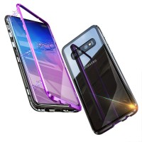 SAMSUNG GALAXY M20 LUXURY MAGNETIC CASE TEMPERED GLASS BACK