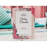 Undangan Pernikahan vintage Lucu- Murah- Proses Cepat- Bahan Tebal