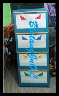 Diskon Lemari Plastik Club 4 Susun Besar Polos Cmmy 4 Promo
