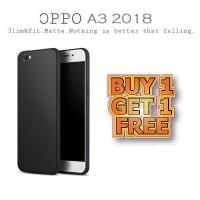 BUY 1 GET 1 FREE Case Babyskin Soft Black Matte OPPO A3 2018