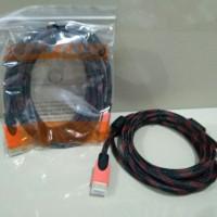 Kabel HDMI Tv To HDMI 3 Meter Serat Jaring 1080 HD high quality