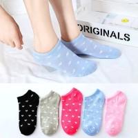 Kaos Kaki Love Pendek Semata Kaki Cute Socks Pelindung Kaki Wanita