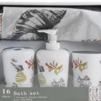 INFORMA - Set Perlengkapan Kamar Mandi - Tirai - Tempat sabun