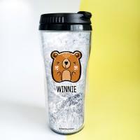 Custom Tumbler Doodle Bear Botol Air Beruang Souvenir Ulang Tahun
