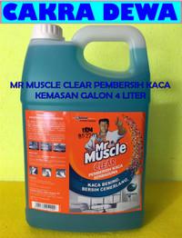 Pembersih Kaca Rumah dan Stainless Mr Muscle Clear Liquid Blue 4 LITER