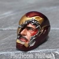 SHF Iron Man Tony Stark headsculpt hs 1/12 Broken Damage Helm Mark 50