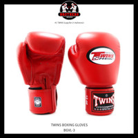 Sarung Tinju TWINS 14 Oz Boxing Muay Thai Gloves - RED