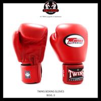 Sarung Tinju TWINS 16 Oz Muay Thai Boxing - Red
