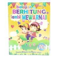 Buku Edukasi Belajar Berhitung Sambil Mewarnai Anak Laki Perempuan
