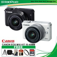 CANON EOS M10 KIT 15-45MM PAKET KOMPLIT - CAMERA MIRRORLES CANON