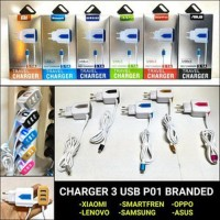 SAMSUNG Smart Fast Charger 3USB LED 3.1A