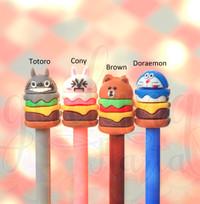 Pulpen Hamburger Totoro Cony Doraemon Brown Lucu Unik GH 307022
