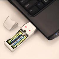 charger usb baterai AA / AAA .