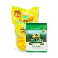 Gulaku 1 Kg & Minyak Goreng Tropical 1 Liter